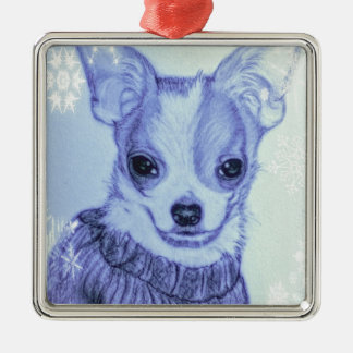 Chilly Chihuahua in Sweater Ornament