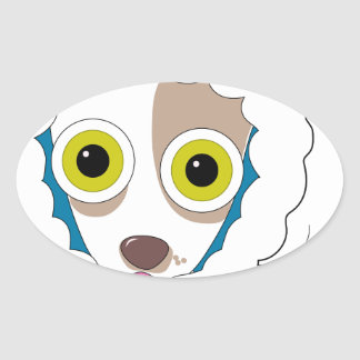 Chilly Chihuahua Oval Sticker