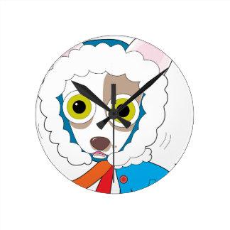 Chilly Chihuahua Round Clock