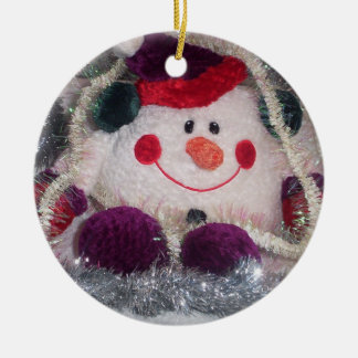 Chilly Christmas Ceramic Ornament