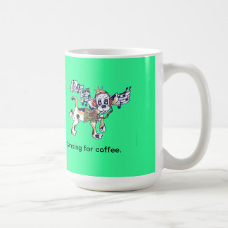 Chilly Dog dancing for coffeee Classic White Coffee Mug