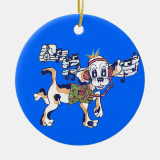 Chilly Dog hanging out under the Christmas tree. Ornament
