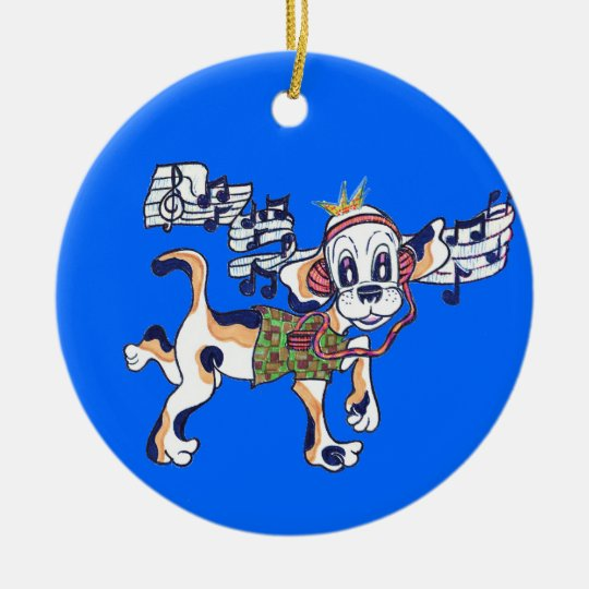 Chilly Dog The Dancing Beagle Ceramic Ornament