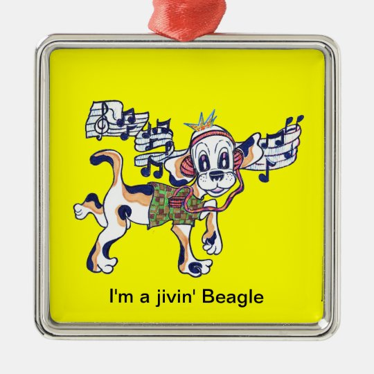 Chilly Dog The Dancing Beagle Metal Ornament