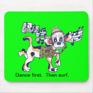 Chilly Dog The Dancing Beagle Mouse Pad