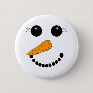 Chilly Face Pinback Button