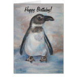 Chilly Little Penguin Birthday Card