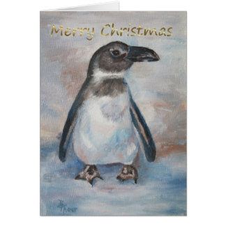 Chilly Little Penguin Card