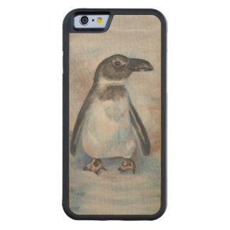 Chilly Little Penguin Carved Maple iPhone 6 Bumper Case