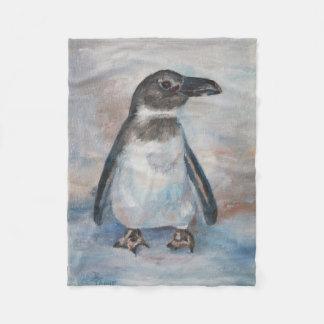 Chilly Little Penguin Fleece Blanket