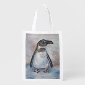 Chilly Little Penguin Reusable Grocery Bag