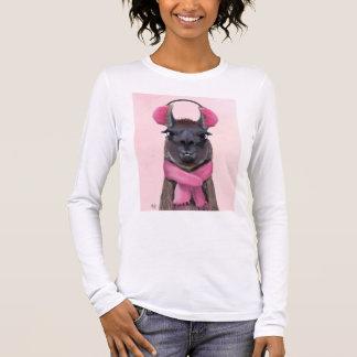 Chilly Llama Pink Long Sleeve T-Shirt