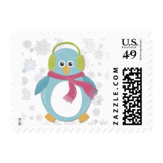 """Chilly Penguin """"Let It Snow"""" Postage"""