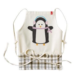 Chilly Penguin Zazzle HEART Apron