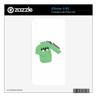Chilly Season iPhone 4S Decal