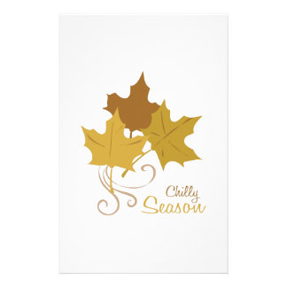 Chilly Season Personalized Stationery