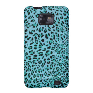 Chilly Willy. Shock Blue Leopard Print. Galaxy S2 Case
