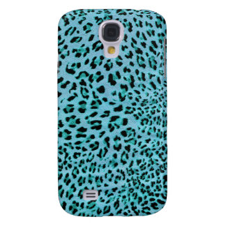 Chilly Willy. Shock Blue Leopard Print. Samsung Galaxy S4 Case