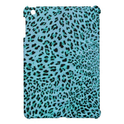 Chilly Willy. Shock Blue Leopard Print. iPad Mini Covers