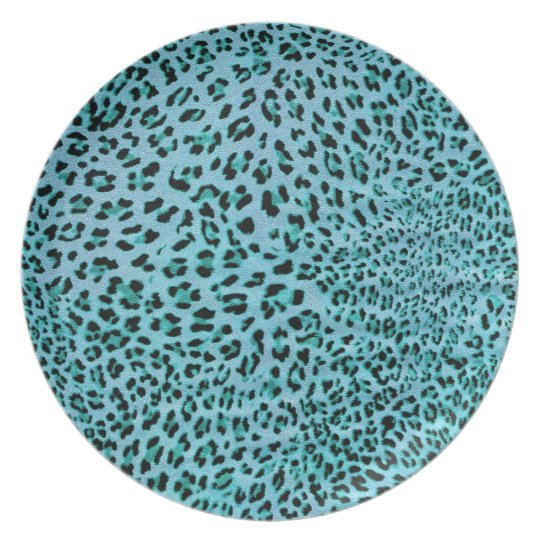 Chilly Willy. Shock Blue Leopard Print. Plate