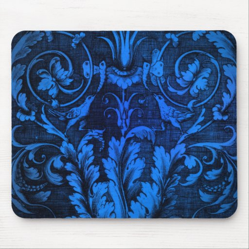 CHILLY Willy  Shocking Blue Damask Products Mouse Pad