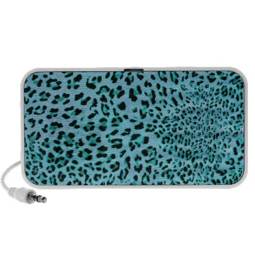 Chilly Willy Shocking Blue Leopard Print Products. Laptop Speaker