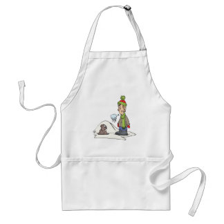 Chilly Winter Adult Apron