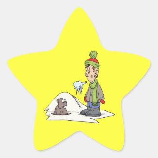 Chilly Winter Star Sticker