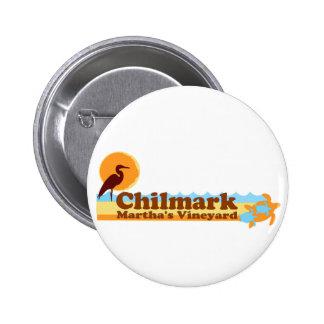 "Chilmark ""Beach"" Design. Pinback Buttons"