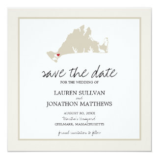 Chilmark Martha's Vineyard Wedding Save the Date Card