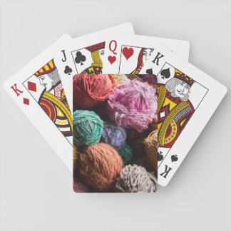 Chiloe wool yarn dyed with natural dyes card deck