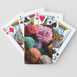 Chiloe wool yarn dyed with natural dyes bicycle playing cards