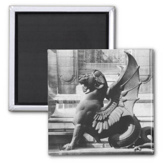 Chimaera from the St. Michel fountain, Paris 2 Inch Square Magnet