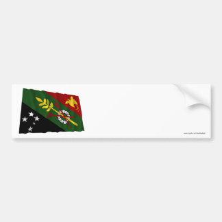 Chimbu Province Waving Flag Bumper Sticker
