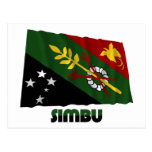 Chimbu Province Waving Flag Post Card