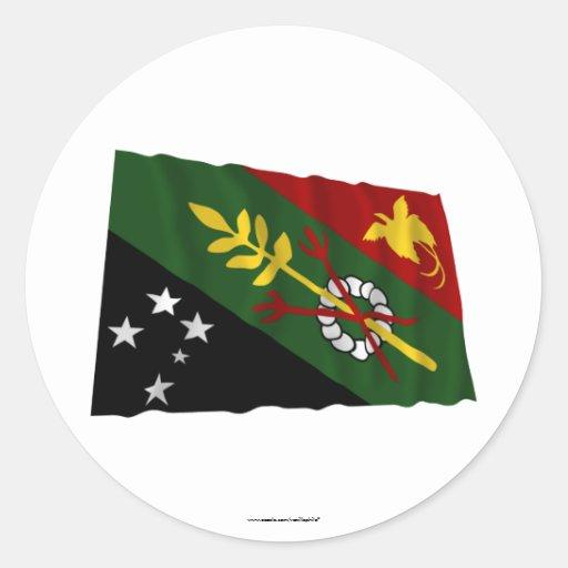 Chimbu Province Waving Flag Stickers