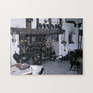 Chimenea antigua que cocina la cocina de las herra rompecabezas