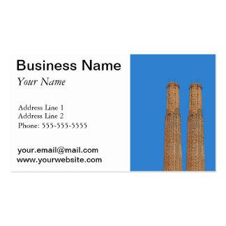 chimenea de la fábrica tarjetas de visita