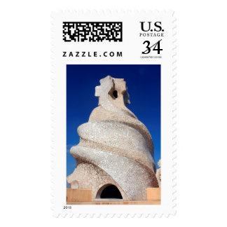Chimenea del mosaico sellos postales