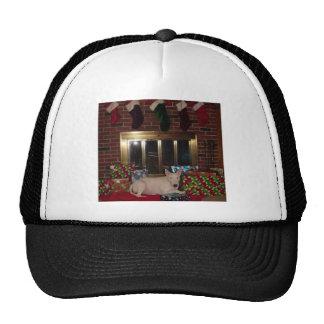 chimenea del regalo de Navidad de bull terrier del Gorras De Camionero