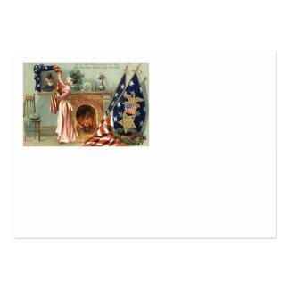Chimenea del retrato de la medalla de la bandera tarjetas de visita grandes