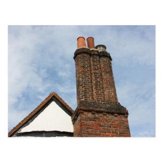 Chimenea en la casa de Tudor, Amersham Reino Unido Tarjetas Postales