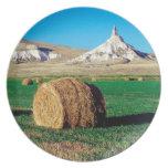 Chimenea Nebraska de las rocas Plato De Comida