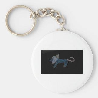 Chimera Blue Basic Round Button Keychain