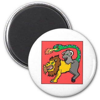Chimera - Book of Monsters 2 Inch Round Magnet