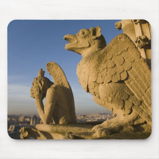 Chimera on facade of Notre Dame Cathedral, Mouse Pad