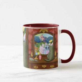 Chimera Vanity, Fairy Cat Mirror Fantasy Art Mug
