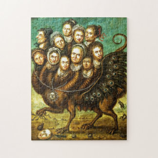 Chimera Winged Creature Early 18th Century Monster Jigsaw Puzzle