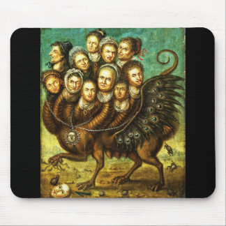 Chimera Winged Creature Early 18th Century Monster Mouse Pad