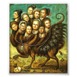 Chimera Winged Creature Early 18th Century Monster Photo Print
